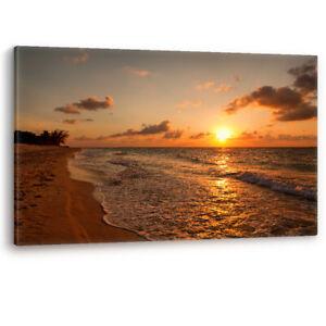 Beach at Sunset Varadero Cuba Caribbean Canvas Wall Art Picture Print A0 A1 A2