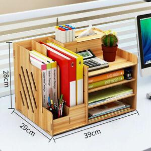 Büro Organisator Schreibtisch Organizer Holz DIY + Stifthalter Dokumentenhalter