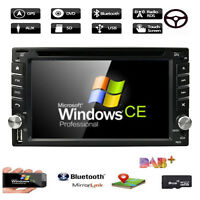 2Din In Dash Stereo Car DVD CD Player Touch Screen Radio GPS BT USB TV+ Map DAB+