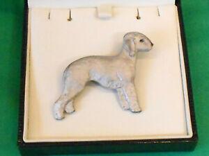 Fantastic Dog Show Breed Jewellery Pin Badge Brooch -  Bedlington Terrier