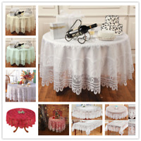 Round Table Cloth Cover Vintage Lace Tablecloth Wedding Party Home Decor 180cm