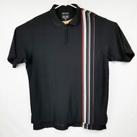 ADIDAS Climacool Mens L Large Black with Stripe Polo Golf Shirt EUC Vented Pits