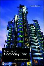 Bourne on Company Law, Bourne, Nicholas, Used; Good Book