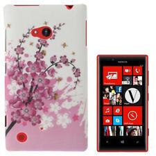 HardCase Schutzhülle für Nokia Lumia 720 Blütenzweig pink weiß Case Hülle Cover