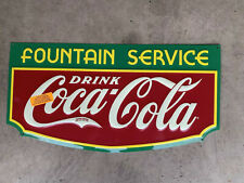 Coca Cola Fountain Service Vintage Sign 2007 23x11.75