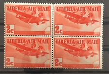 Liberia Stamps 1939 Scott # C5/AP3 2c Block 4 MNHOG XF Great Piece Y4/32