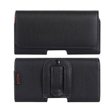 phone Case Belt Clip Mobile Phone Bag Holster Black Leather Case
