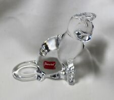 Baccarat SITTING CAT with sticker, double signed, Retired, Excellent