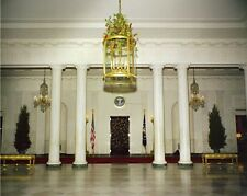 1961 Christmas decorations White House Entrance Hall New 8x10 Photo