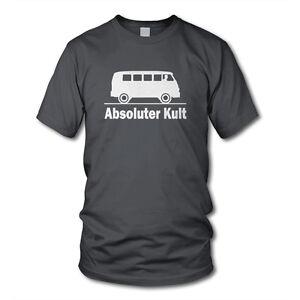 ABSOLUTER KULT - BUS Oldtimer T-Shirt - Funshirt - Auto Hobby Tuning Hippie
