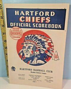 1948 Hartford Chiefs Eastern League Baseball Program Unscored