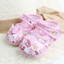 Toddler Baby Girl Shoes Bowknot Boots Cloth First Walker Soft Crib Shoes