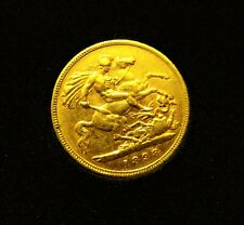More details for 1898 queen victoria veiled head gold half sovereign in coin case