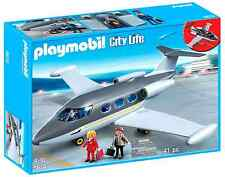 Private Jet PLAYMOBIL Airplane Toy Aircraft Playset New 3 Figures Free Shipping