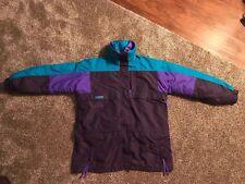 Vintage Women's COLUMBIA Parka 3 In 1 Jacket Purple/Teal - Size Large EUC