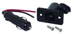 NEW Shoreline Marine 12-Volt Power Plug & Socket w/Weather Cover & Fuse SL52082