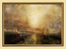 Sonnenuntergang William Turner Seefahrt Licht Schiff Leinwand A2 Goldrahmen 7