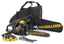 McCulloch Benzin-Kettensäge CS 390 + Tasche + Ersatzkette + Handschuhe Husqvarna