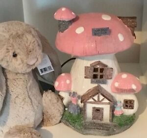 ~❤️~TOADSTOOL NIGHT LIGHT Fairy Mushroom Large 30cms Pink PLUG-IN BNIB❤️