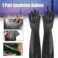 Gantelets en latex Gants longs en caoutchouc PPE Industriel Anti chimique 60cm