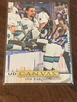 2019-20 Upper Deck Erik Karlsson UD Canvas Insert Card #C196