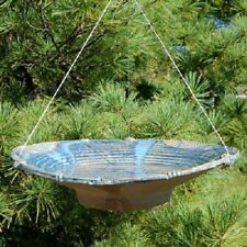 LARGE CERAMIC FRENCH BLUE HANGING BIRD BATH by ANTHONY STONEWARE