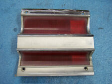 MOPAR 1968 PLYMOUTH CUSTOM SUBURBAN RIGHT TAIL LIGHT LENS + BEZEL PASSENGER SIDE