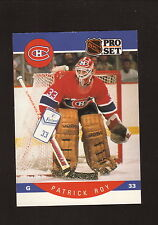 Patrick Roy--1990-91 Pro Set Hockey Card--Montreal Canadiens