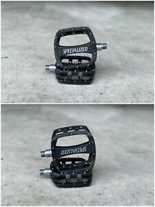 Beefcake Specialized BMX MTB Pedals - Flat Platforms - Aluminum - Black - Nice