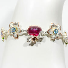 FINEART JEWELRY 11ct+ Natural Ruby 925 Sterling Silver Bracelet/BR00663