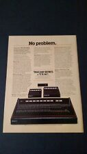 TASCAM SERIES MIXERS BY TEAC  (1979) RARE ORIGINAL PRINT PROMO POSTER AD