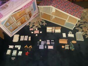 Vintage Lundby Dollhouse W/Box, Lot Of Dollhouse Furniture & Dolls  #6002