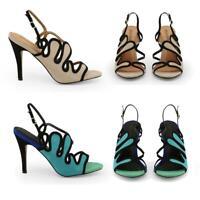 ARNALDO TOSCANI Scarpe donna decollete sandali pelle lavorata tacco 10 moda DD