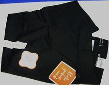 DOCKERS SIZE 8 BLACK SATEEN SURE FIT CAPRI PANTS NEW STRETCH LADIES AUTHENTIC