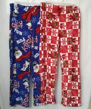 PLUSH CHRISTMAS SLEEP PANTS FROSTY AND RUDOLPH NWT LADIES SIZE SMALL 4/6