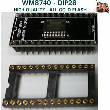wm8740seds DAC IC ss0p-28 adatta a DIP28 Adattatore PLUS SKT STOCK UK