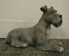 Vintage 1987 Lefton Porcelain Schnauzer Dog Figurine #06142
