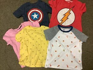 LOT OF FIVE BOYS SHORT SLEEVE SHIRTS SIZE 5 OLD NAVY SOFT