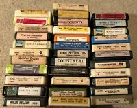 Large Lot of 34 Country Music 8-Track Tapes