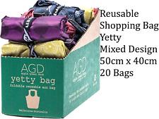 20 x APPLE GREEN DUCK Reusable Shopping Bag - Yetty Mixed Design (50cmx40cm)