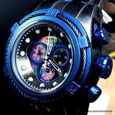 Invicta Reserve Bolt Zeus Distressed MOP Black Blue Swiss Made Chrono Watch New