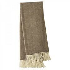 Creswick Australia Alpaca Wool Throw Rug Herringbone Dark Brown RRP $299.95