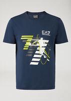 T-shirt Uomo Emporio Armani EA7 3ZPT48 PJM9Z Maglia Cotone Nera Blu Rossa Nuova