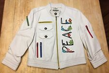 RARE Women's Double D Ranch 3/4 Sleeve PEACE Leather Jacket Small