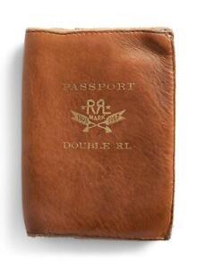 Ralph Lauren Leather Passport Wallet Case RR Double Passport UNUSED Japan