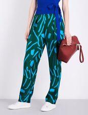 DIANE VON FURSTENBERG Silk Twill Pleat Front Pant Size P