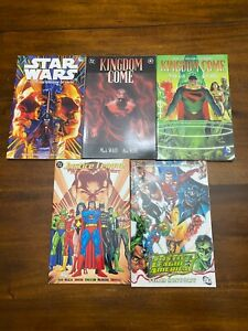 graphic novel lot of 5 DC Star Wars Superman Justice League Kingdom Come