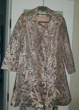 Vtg Sophisticated Miss Frances Henaghan Silver pink Brocade metallic jacket