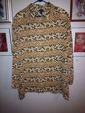 Womens Resource  Sheer Button Down Blouse Size 22 Plus Size BBW 2X  5J