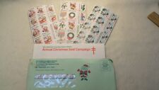 Christmas Seals - Full Sheet For Each Year 1984, 1985 & 1987